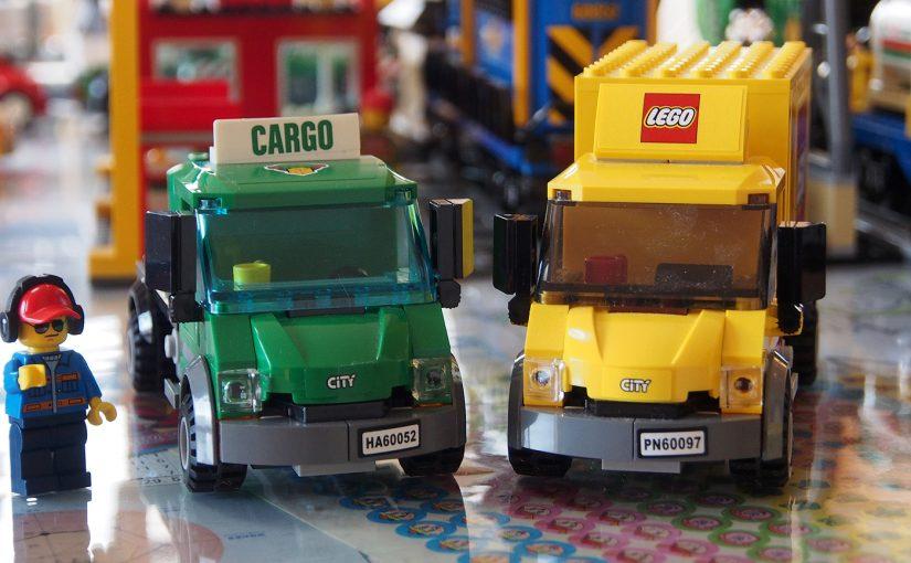 [レゴ]そっくりさん発見。カーゴトレインとレゴシティのまちの、トラック
