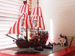 学級閉鎖中に作った海賊船