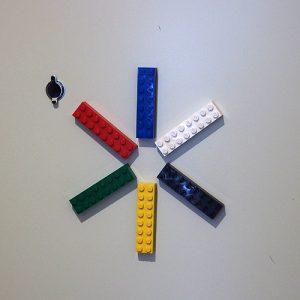 玄関レゴ「雪」