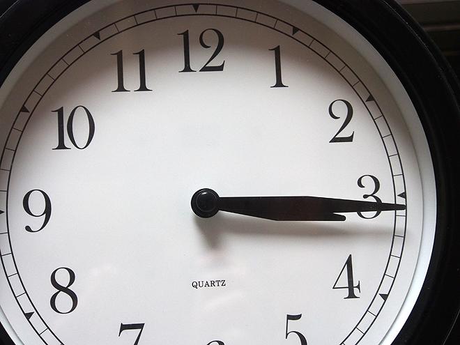 3時15分くらい