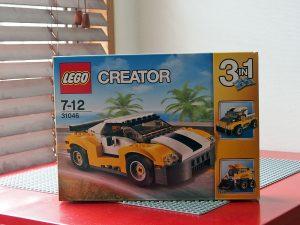 レゴクリエイター3in1、スポーツカーイエロー、外箱