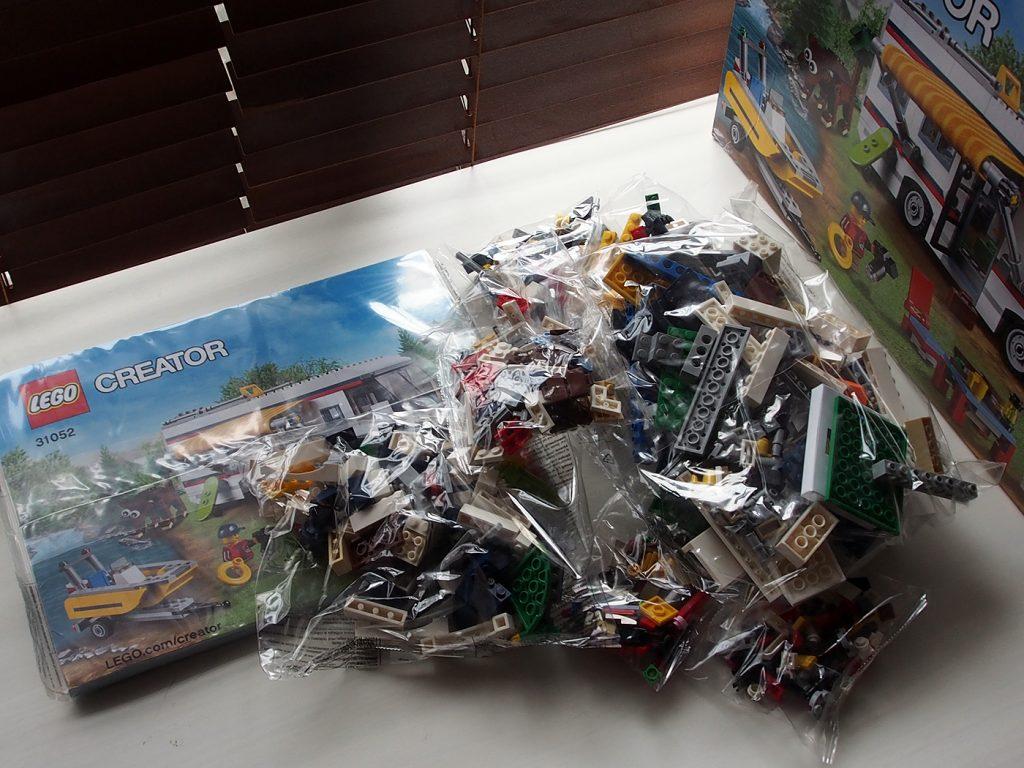 レゴ、キャンピングカー、開封