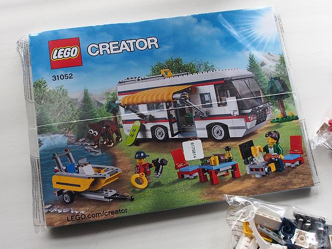 レゴ3in1、キャンピングカー、説明書
