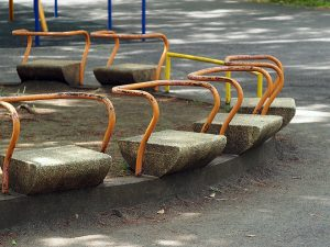 萩中公園、ベンチ1