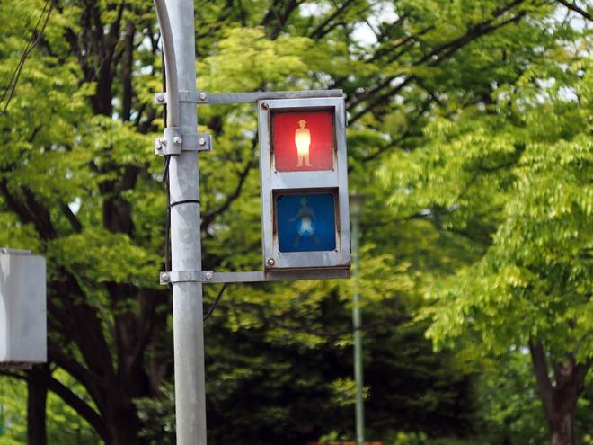 交通公園の信号