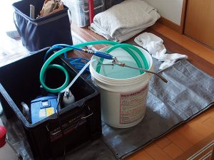 エアコン清掃のプロの道具