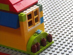 レゴ、基本ブロック、家、側面