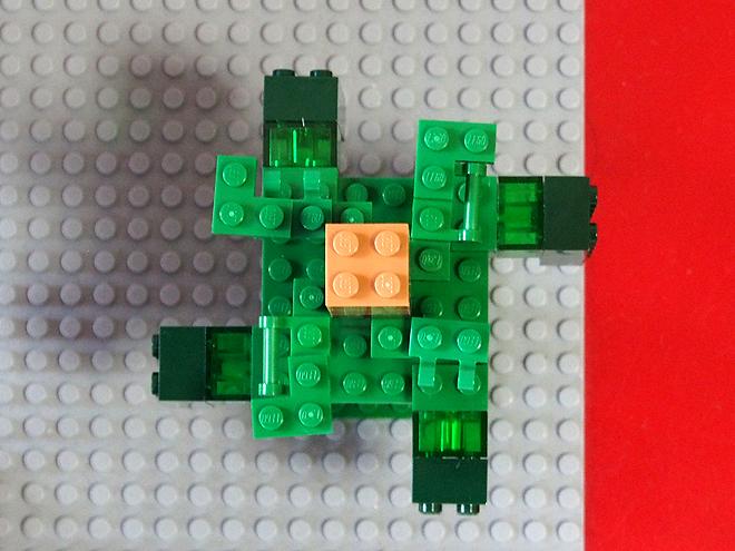 レゴ、マインクラフト、木、上から