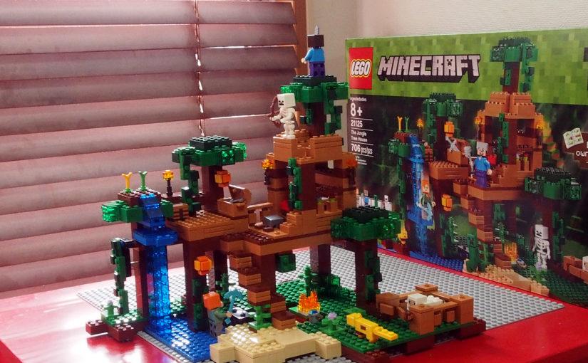輸入[レゴ]MINECRAFT The Jungle Tree House(21125)、ゲームをしてない子どもに買いました
