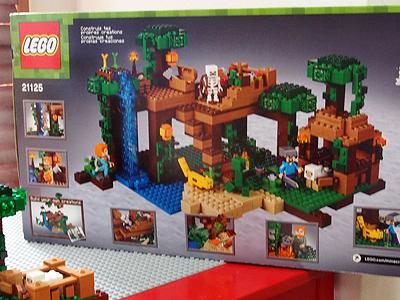 レゴ、マインクラフト21125、パッケージ裏