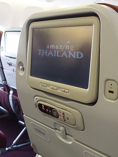 シート背面、タイ航空