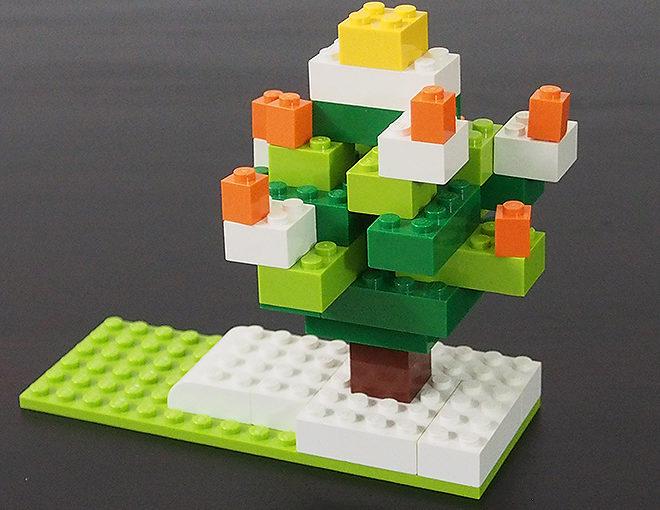 [レゴ]基本ブロックで簡単クリスマスツリー