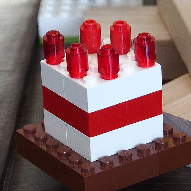 レゴ、いちごのケーキ