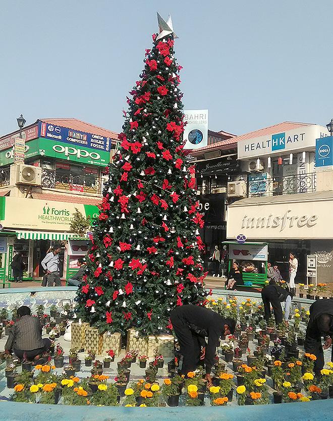 ガレリア、クリスマスツリー
