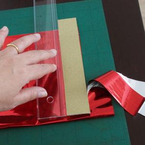 短冊に切る、紙の幅