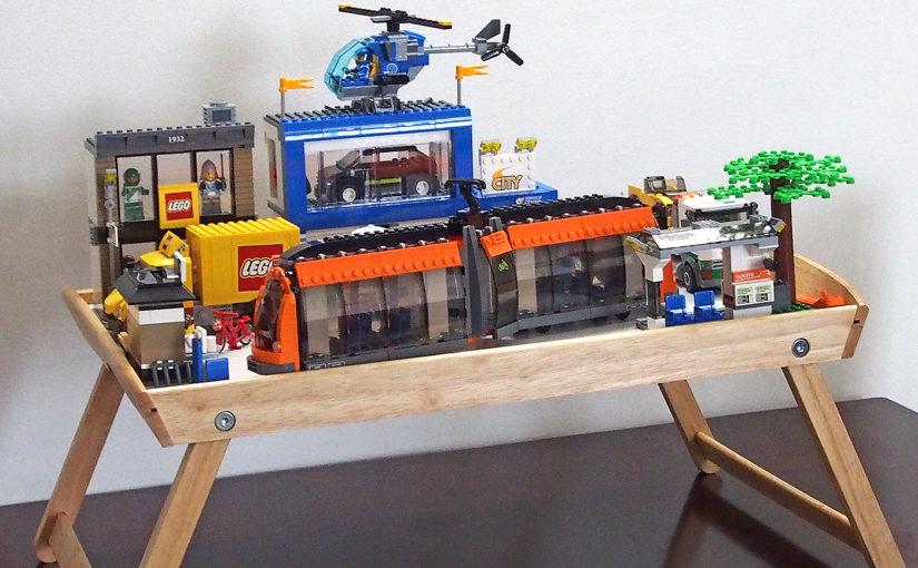 [LEGO]CITY、レゴシティのまち。小さなテーブルに作ってみた