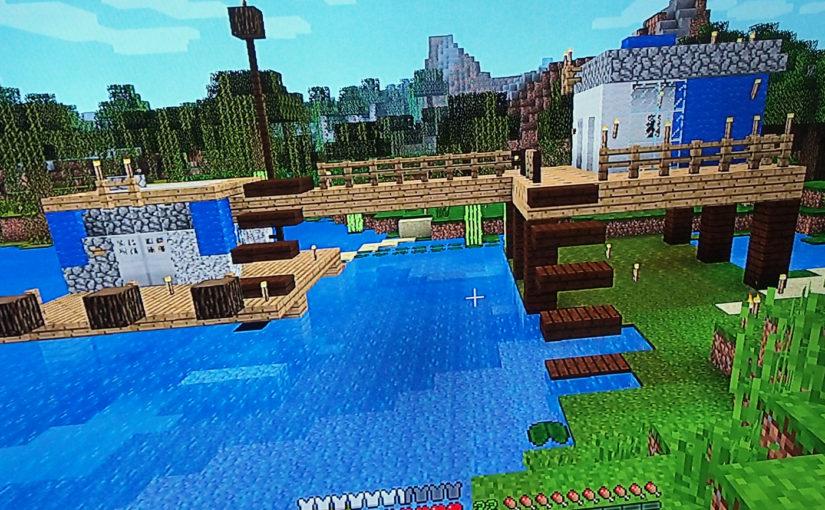 マイクラで再現したい(2)[LEGO CITY]沼地のポリスステーション