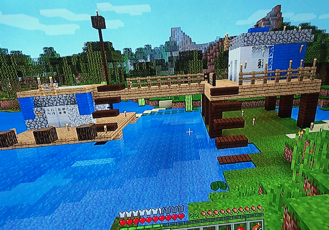 マイクラで再現、沼地のポリスステーション
