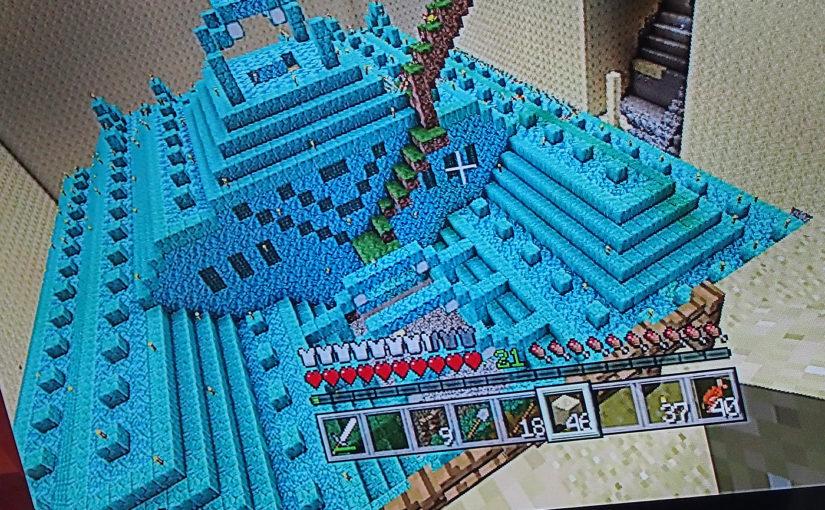 【Minecraft-PS4版】海底神殿の上から4層目(1階)