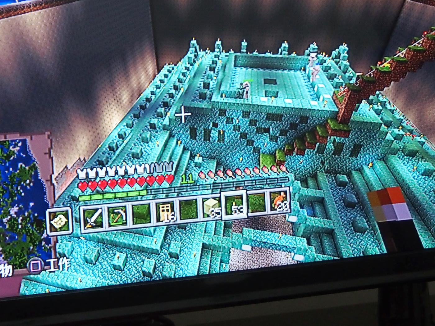 海底神殿、最上階天井を抜く
