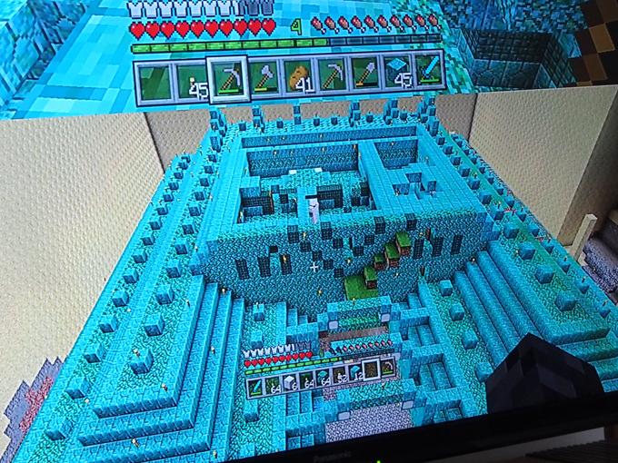 海底神殿、3階、天井を抜いた