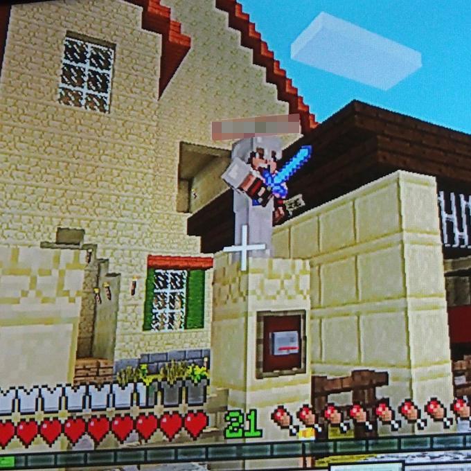 マイクラ、リカちゃんハウス、銅像