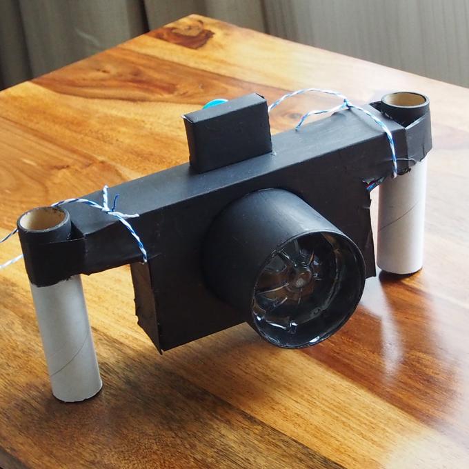 水中カメラ、工作2