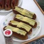 ホットドッグ、チーズ