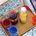 コーラとオレンジジュース
