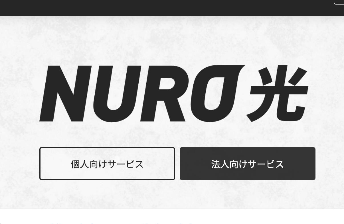NURO光にした!